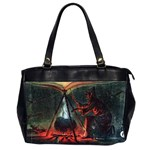 Witch s Whirl Waltzes  Oversize Office Handbag (Two Sides)