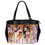Four Seasons by Alphonse Mucha 1895 Oversize Office Handbag (Two Sides) from Manda s Macabre Front