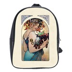 Fruit by Alfons Mucha 1897 School Bag (Large)