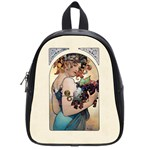 Fruit by Alfons Mucha 1897 School Bag (Small)