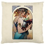 Fruit by Alfons Mucha 1897 Large Cushion Case (Two Sides)