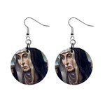 Trauernde Madonna 1  Button Earrings