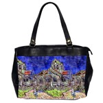 The Church at Auvers by Vincent van Gogh 1890 Oversize Office Handbag (Two Sides)