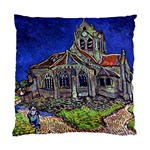 The Church at Auvers by Vincent van Gogh 1890 Cushion Case (Two Sides)