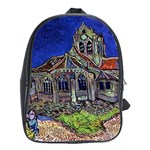 The Church at Auvers by Vincent van Gogh 1890 School Bag (Large)