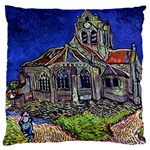 The Church at Auvers by Vincent van Gogh 1890 Large Cushion Case (Two Sides)