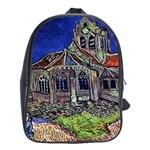 The Church at Auvers by Vincent van Gogh 1890 School Bag (XL)