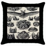 Haeckel Chiroptera Throw Pillow Case (Black)