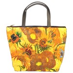 Vase With Fifteen Sunflowers By Vincent Van Gogh 1888 Bucket Bag