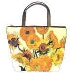 Vase With Fifteen Sunflowers By Vincent Van Gogh 1889 Bucket Bag