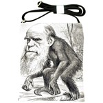 Editorial Cartoon Of Charles Darwin 1871 Shoulder Sling Bag