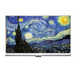 Starry Night By Vincent Van Gogh 1889 Business Card Holder