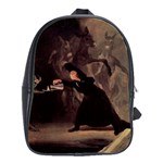The Bewitched Man By Francisco Goya 1798 School Bag (Large)