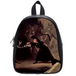 The Bewitched Man By Francisco Goya 1798 School Bag (Small)