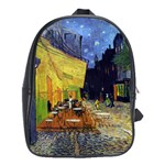 Cafe Terrace At Night By Vincent Van Gogh 1888  School Bag (Large)
