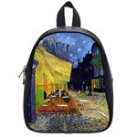 Cafe Terrace At Night By Vincent Van Gogh 1888  School Bag (Small)