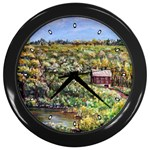Tenant House in Summer by Ave Hurley - Wall Clock (Black)
