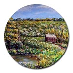 Tenant House in Summer by Ave Hurley - Round Mousepad