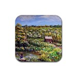 Tenant House in Summer by Ave Hurley - Rubber Square Coaster (4 pack)