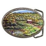 Tenant House in Summer by Ave Hurley - Belt Buckle