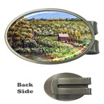 Tenant House in Summer by Ave Hurley - Money Clip (Oval)