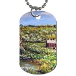 Tenant House in Summer by Ave Hurley - Dog Tag (One Side)
