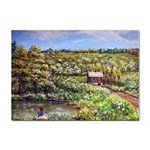Tenant House in Summer by Ave Hurley - Sticker A4 (100 pack)