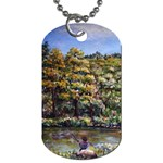 Tenant House in Summer by Ave Hurley - Dog Tag (Two Sides)