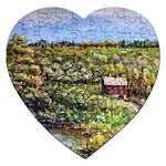 Tenant House in Summer by Ave Hurley - Jigsaw Puzzle (Heart)