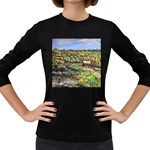 Tenant House in Summer by Ave Hurley - Women s Long Sleeve Dark T-Shirt