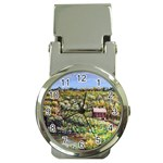 Tenant House in Summer by Ave Hurley - Money Clip Watch
