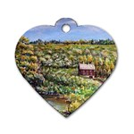 Tenant House in Summer by Ave Hurley - Dog Tag Heart (Two Sides)