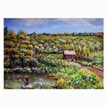 Tenant House in Summer by Ave Hurley - Glasses Cloth (Large, Two Sides)