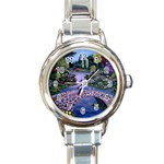 My Garden By Ave Hurley Ah 001 163 Original 1 45mg Round Italian Charm Watch