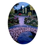 My Garden By Ave Hurley Ah 001 163 Original 1 45mg Ornament (Oval)