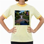 My Garden By Ave Hurley Ah 001 163 Original 1 45mg Women s Fitted Ringer T-Shirt