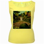 My Garden By Ave Hurley Ah 001 163 Original 1 45mg Women s Yellow Tank Top