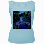 My Garden By Ave Hurley Ah 001 163 Original 1 45mg Women s Baby Blue Tank Top