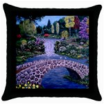My Garden By Ave Hurley Ah 001 163 Original 1 45mg Throw Pillow Case (Black)