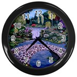 My Garden By Ave Hurley Ah 001 163 Original 1 45mg Wall Clock (Black)