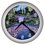 My Garden By Ave Hurley Ah 001 163 Original 1 45mg Wall Clock (Silver)