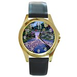 My Garden By Ave Hurley Ah 001 163 Original 1 45mg Round Gold Metal Watch