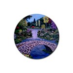 My Garden By Ave Hurley Ah 001 163 Original 1 45mg Rubber Coaster (Round)