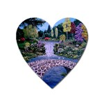 My Garden By Ave Hurley Ah 001 163 Original 1 45mg Magnet (Heart)