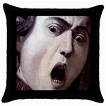 The Head Of The Medusa By Michelangelo Caravaggio 1590 Throw Pillow Case (Black)