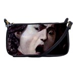 The Head Of The Medusa By Michelangelo Caravaggio 1590 Shoulder Clutch Bag