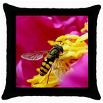 Beautiful Bee Animal Throw Pillow Case (Black)