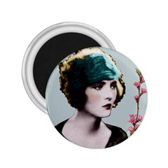 Art Deco Woman in Green Hat 2.25  Magnet from Aussie Custom Gifts Front