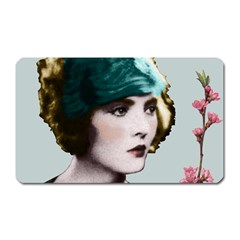Art Deco Woman in Green Hat Magnet (Rectangular) from Aussie Custom Gifts Front