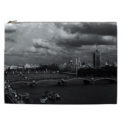 Vintage Uk England London The River Thames 1970 Cosmetic Bag (xxl) by Vintagephotos